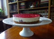 Cheesecake senza cottura ai lamponi e timo